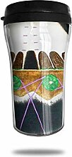 Symbole der indianischen Kirche Glas Kaffeebecher