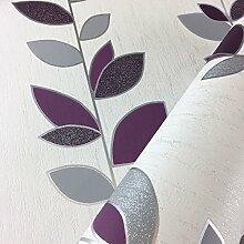 Synergy Leaf Tapete Glitzer Sparkle Luxus