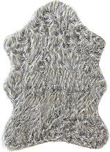 Synthetik Lammfell, grau (75/105 cm)