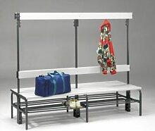 Sypro Umkleidebank aus Stahl für Feuchträume -