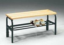 Sypro Wolf® Umkleidebank für Trockenräume ohne Lehnen 1,01 m, Mit Schuhros