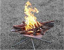 SYSI Outdoor Garten Tragar Faltbar Feuerschale