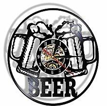 syssyj Bier Bar Wand Dekor Moderne Uhr Trinkstunde