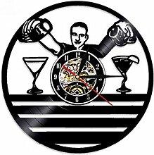 syssyj Schallplatte 3D Wanduhr Design Whisky Bier