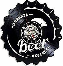 syssyj Vinyl Schallplatte Wanduhr Bier Vinyl