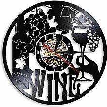 syssyj Wein Logo Wanduhr Weingut Flasche Glas