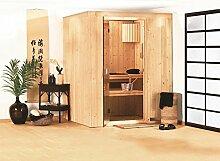 System Sauna Narva 151cm x 151cm x 198cm inkl. Zubehörset 3,6kW Saunaofen