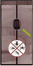 SystemsEleven® Magnetverschluss Magic Vorhang Hände frei Fly Bug Insektenschutz Tür Mesh braun