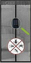 SystemsEleven® Magnetverschluss Magic Vorhang Hände frei Fly Bug Insektenschutz Tür Mesh schwarz