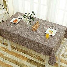 SYT Tablecloths Baumwolle und Leinen einfarbige