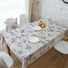 SYT Tablecloths Kleine Jinjiamei ländlichen West Baumwolle Tischdecke Tischdecke t, 140x140cm, a