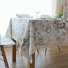 SYT Tablecloths Retro Blumendruck Dekorative