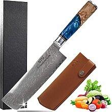 SYU Nakiri Damastmesser Japanische Messer Nakiri