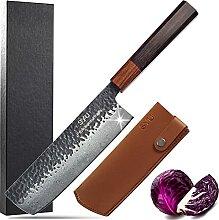 SYU Nakiri Messer Damast Japanische Messer Nakiri