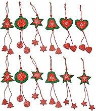 SYU Silvester Weihnachtsbaum Anhänger Geschenk Deko 36 Stk