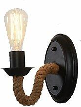 SYXYSM Hanf Wandlampe, im amerikanischen Stil