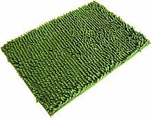 SYY 50 * 80cm Weiche Shaggy Non Slip saugfähige Badematte Badezimmer Dusche Teppiche Teppich (Grün)