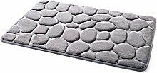 SYY Pebble Memory Foam Badematte Teppich Fußmatten Teppich (E)
