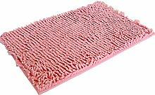 SYY Weiche Shaggy Non Slip Absorbierende Badematte Badezimmer Dusche Teppiche Teppich (Rosa)