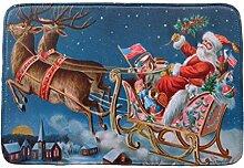 SYY Weihnachten HD Gedruckt Anti-Rutsch Bad Matte Absorbent Home Decor (H)