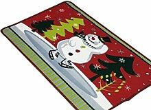 SYY Weihnachten HD gedruckte rutschfeste Badematte Saugfähige wasserdichte Innendekoration (C)