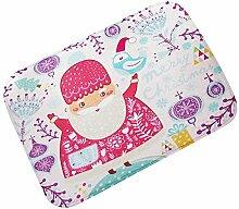 SYY Weihnachten HD gedruckte rutschfeste Badematte Saugfähige wasserdichte Innendekoration (G)