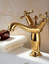 SZ Klassische Reines Kupfer 2Griffe Waschbecken faucetss