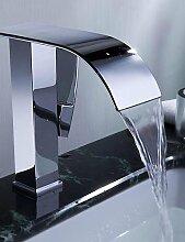 SZ Moderne Wasserfall Waschbecken Armaturen (chrom Finish)