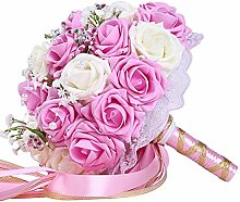 Szeven Hochzeitsdekoration Bouquet Ribbon Flower