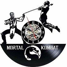 szhao Mortal Kombat Schallplatte Wanduhr Modernes