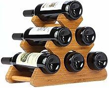 SZHSM Holz Weinflasche Rack, natürliche