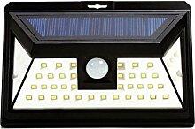 T.K Online Shop Germany - Wegbeleuchtung hof, Garage,Solarlampe/ Solarleuchte mit 46 LED`s mit Tageslichtsensor und Bewegungsmelder für Garten und Außenbereich, Akku inklusive.