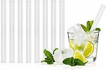 T&N Glas Strohhalm 8er Set - 15 cm Trinkhalme Glas