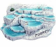 T?rkei Pamukkale Hot Springs t?rkischen 3D Resin TOY Fridge Magnet Schiff frei