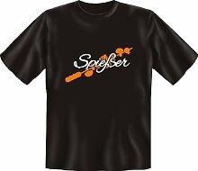 T-Shirt - Spießer Grill - Fun Spruch T-Shirt 100% Baumwolle - Grösse L