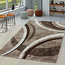 T&T Design Teppich Wohnzimmer Gestreift Modern mit