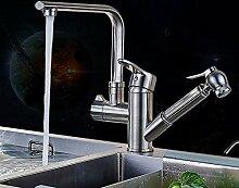 T-TSLT Kupfer Pull Wasserhahn heiß und kalt