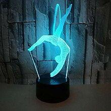T-YXM 3D LED Turnen Kleine Nacht Licht Weihnachten