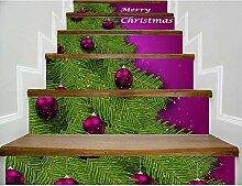 T-YXM Treppe Aufkleber 3D Weihnachtsbaum
