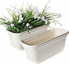 T4U 40cm Plastik Selbstbewässerung Blumenkasten