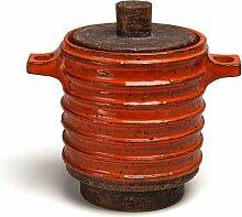 Tabakdose mit Deckel in Orange & Braun von Aldo