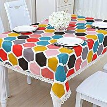 Tabelle cloth karo cloth garten baumwolle leinen klein frisch continental tischtuch rechteckig viereck ikea-T 90x140cm(35x55inch)