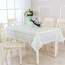 Tabelle Platz Tischdecke Tischdecken wasserdicht EVA-Material moderne, minimalistische Esstisch drapieren, A, 106 * 152 CM