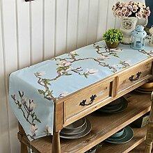 Tabelle runner american country style tv schrank tisch dekoration tuch quaste-D 33x240cm(13x94inch)