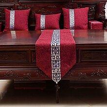 Tabelle runner chinese modern cloth tischtuch schuh cover tuch tv schrank-E 33x210cm(13x83inch)