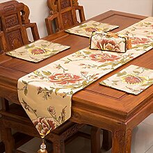 Tabelle runner chinese style klassischen tischtuch wohnzimmer dining tisch tv schrank kaffee tisch rot schwarz-A 33x210cm(13x83inch)