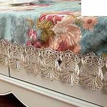 Tabelle Tuch Europäisch Mehrzweck-dekoratives Handtuchtuch Rechteck Kaffee Tischdecke Luxus-chenille-tuch-A 130x180cm(51x71inch)