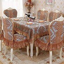 Tabelle Tuch Luxuriös Europäisch Chenille Spitze Stoffe Verdicken Sie Hotels Restaurant Haushalt Tischdecke Tischdecke-C 130x180cm(51x71inch)