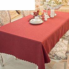 Tabelle Tuch Tischdecke,Fertig Nähen Einfache Und Moderne Lila Rot Tischdecke,Hotel Tischdecke-B 160x160cm(63x63inch)