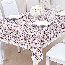 Tabellen-tischtuch,tuch garten baumwolle leinen frisches tuch-E 110x160cm(43x63inch)